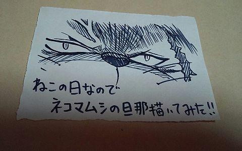 ネコの日らしいからネコマムシの旦那 一発描き  ミンクはいいぞの画像(プリ画像)