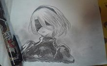Nier:Automata描いてみたよー プリ画像