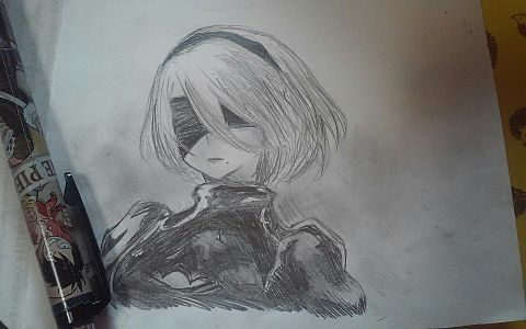 Nier:Automata描いてみたよーの画像(プリ画像)