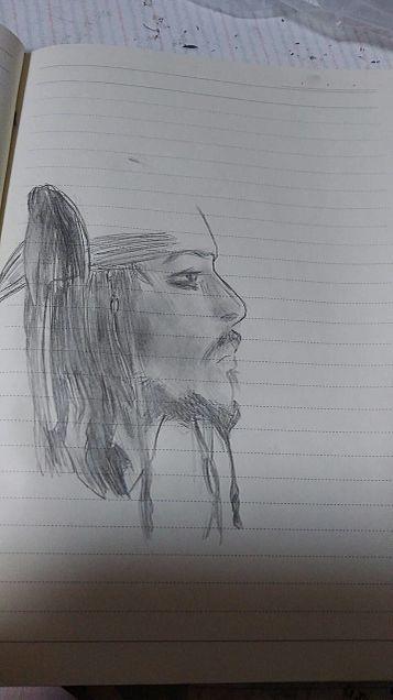 パイレーツオブカリビアンの雀船長描いてみたったの画像(プリ画像)