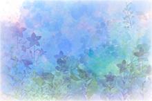素材かわいい水彩画風花夜星雰囲気おしゃれ綺麗背景の画像(かわいい 素材に関連した画像)