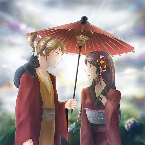 相々々傘の画像(プリ画像)