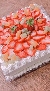 近所の人の誕生日!!手作りケーキの画像(手作りケーキに関連した画像)