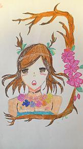 森の少女(妹の絵)の画像(プリ画像)