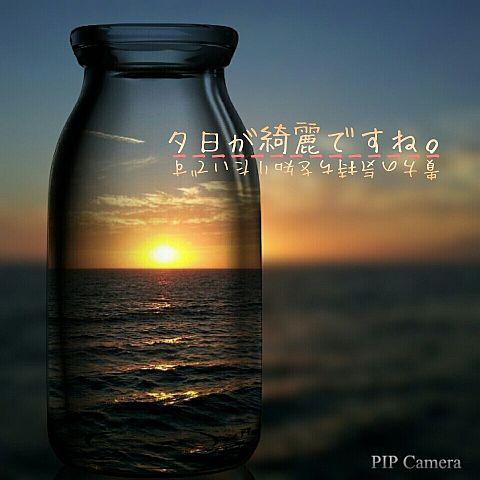 夕日が綺麗ですね。の画像(プリ画像)