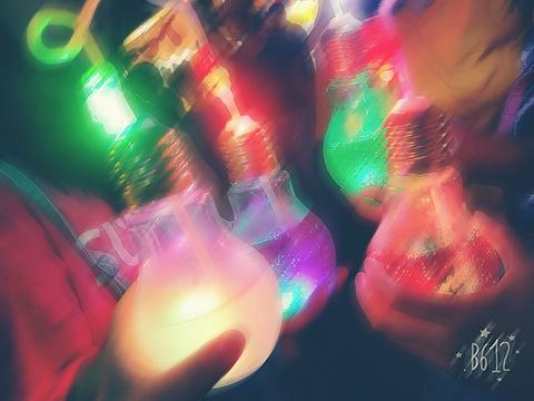 お祭り~電球ソーダ~の画像(プリ画像)