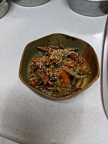 きんぴらごぼうお弁当のおかず朝詰めるだけの画像(おかずに関連した画像)