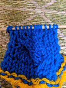 縄編み練習台出来たの画像(練習に関連した画像)