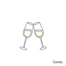 シャンパン プリ画像