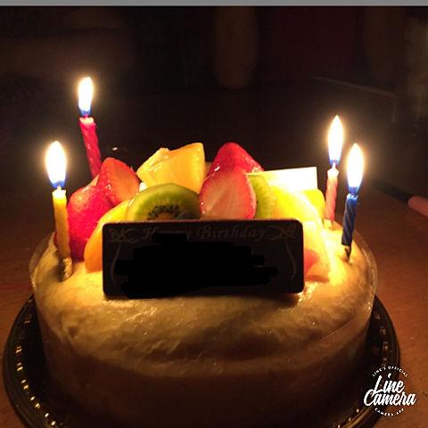 お姉ちゃんの誕生日ケーキだよ!かこうで、名前隠してます!の画像(プリ画像)