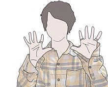 松島聡の線画加工 プリ画像