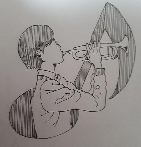 トランペット男子完成版の画像(プリ画像)