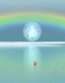 虹の掛かった空と海の画像(プリ画像)