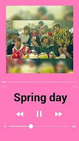 BTS 音楽再生画面((Spring dayの画像(Springに関連した画像)