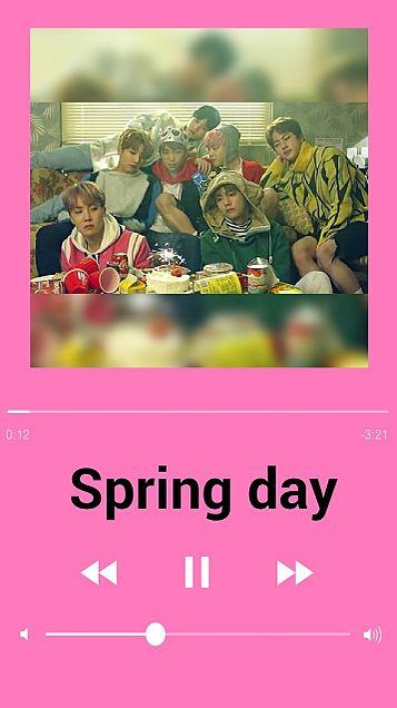 BTS 音楽再生画面((Spring dayの画像 プリ画像
