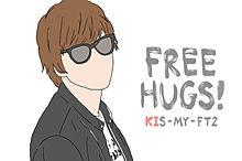 FREE HUGS! 北山くんの画像(線画に関連した画像)