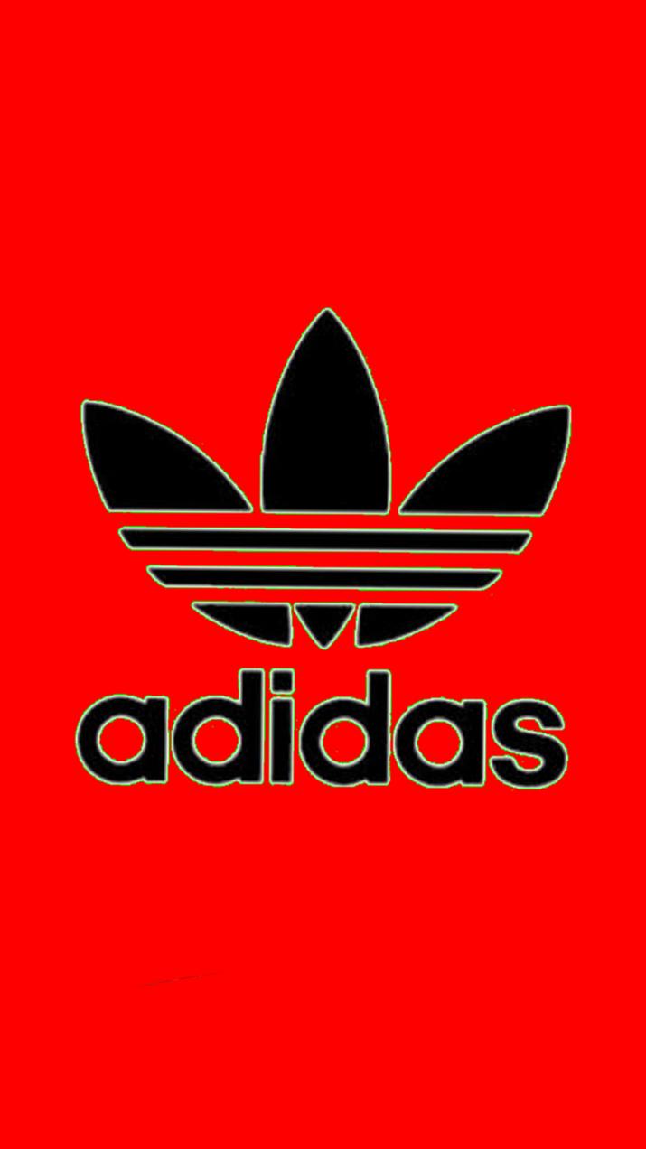 adidas 壁紙 ふち緑 赤の画像 プリ画像