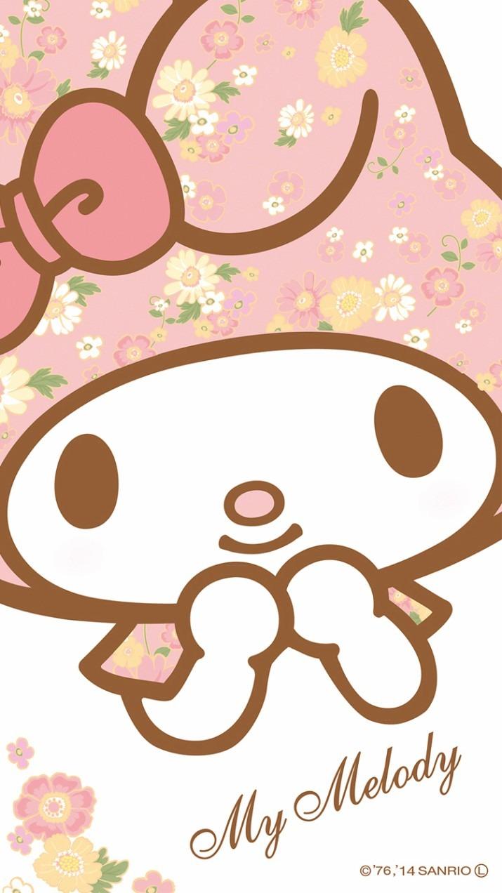 ずきんがお花柄のマイメロディー