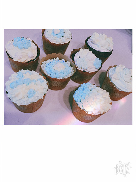 妹と作ったカップケーキの画像(プリ画像)