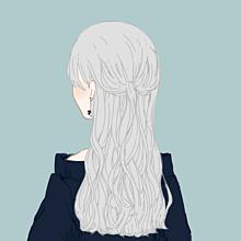ダウナー女の子の画像(白髪 女の子に関連した画像)