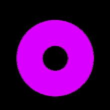 丸 二重丸 アイコン ドーナツ カラフル ペア画の画像(カラフルに関連した画像)