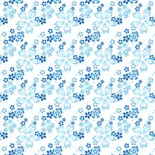 花柄 青 プリ画像