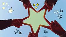 友達で星作ったの画像(青空に関連した画像)