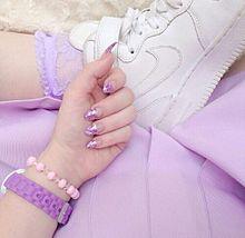 紫 プリ画像