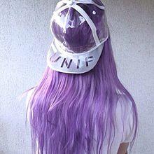 紫 女の子 プリ画像