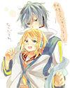KAITOとリンちゃんのほのぼの プリ画像