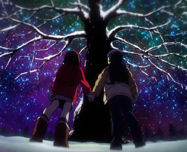 一緒に見たクリスマスツリー