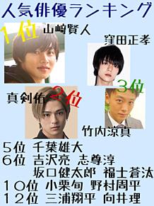 俳優選挙♡結果発表の画像(プリ画像)
