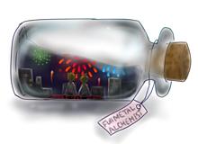 瓶入り花火の画像(プリ画像)