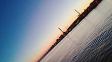 朝日  海 プリ画像