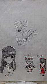 学校で描いた落書きの画像(人形に関連した画像)