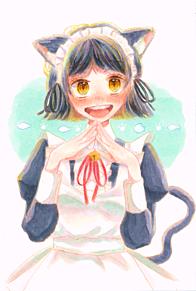 猫耳メイドさんの画像(猫耳 女の子に関連した画像)