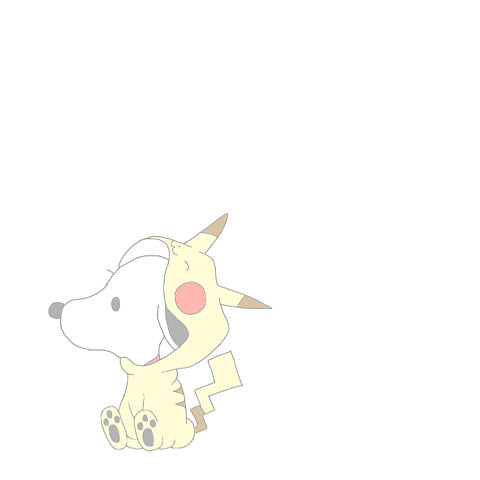 スヌーピー & ピカチュウの画像(プリ画像)