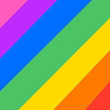 虹色 プリ画像