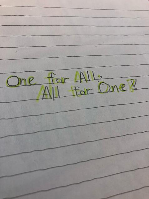 ひとりはみんなのために、みんなはひとりのためにの画像(プリ画像)