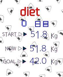 ダイエットはじめました
