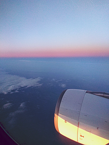 飛行機朝やけの画像(朝やけに関連した画像)