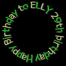 ELLY 誕生日の画像(プリ画像)