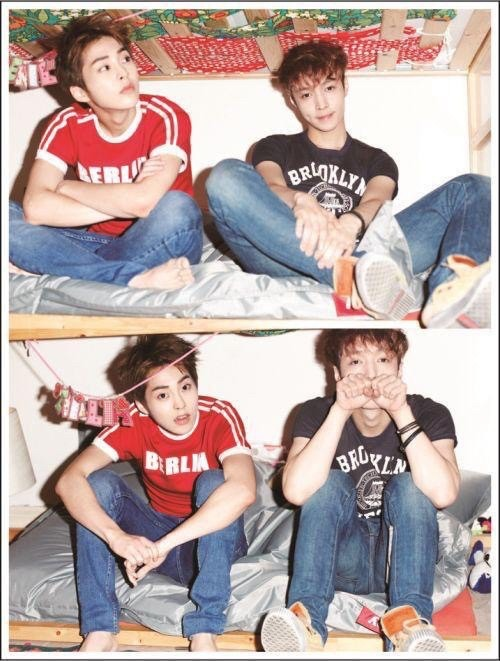 exo lay xiumin ... Xiumin And Lay