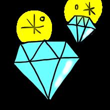 デコ素材の画像(ダイヤに関連した画像)
