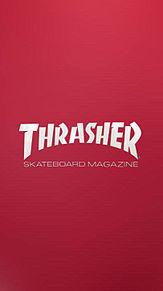# THRASHER  #壁紙  #赤の画像(色に関連した画像)