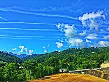 飛行機雲の画像(プリ画像)