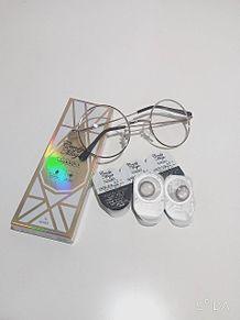 カラコン・丸メガネ・白ホワイトの画像(ホーム画に関連した画像)