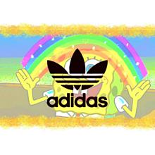 スポンジボブ&adidasの画像(スポンジボブ ロゴに関連した画像)