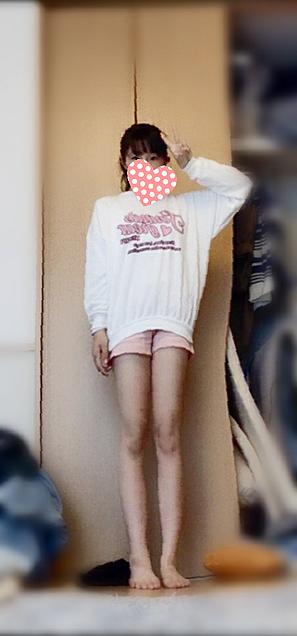 今日の服💕めちゃ細く撮れた気がするwwの画像(プリ画像)