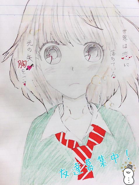 女の子 落書き♡の画像(プリ画像)